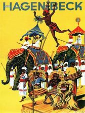 CIRCUS CARL HAGENBECK zoo Hambourg Allemagne teirpark Poster Art Print bb1633a