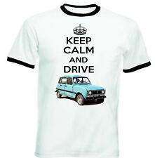 RENAULT 4L SAFARI KEEP CALM - NEW COTTON TSHIRT - ALL SIZES IN STOCK