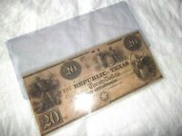 REPUBLIC OF TEXAS 20 dollar  1839 SCARCE nice Note Bill Currency
