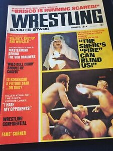 """Wrestling Sports Stars- Winter 1974- The Sheik's """"Fire"""" Can Blind Us!"""
