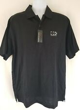 Greg Norman Black Casual Golf Polo Shirt Mens Large OH Logistics New w/ Tags