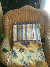 Waverly Wind Chime Lemon (?) Fabric Shower Curtain Country Cottage NWOT