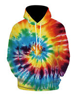 Tie Dye Long Sleeve T Shirt Top Tee Tye Multicolor Hoodie Pullover Jumper Jacket