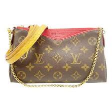 Louis Vuitton Pallas Clutch Cerise Red Monogram Canvas Cross Body Bag