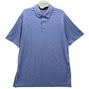 Nike Golf Tour Performance Dri Fit Mens Short Sleeve Polo Shirt Size Large Lilac