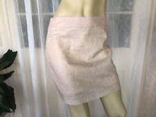 NEW SIZE 6 CATCHLOVE COLLECTIVE OATMEAL  LINEN WORK SKIRT COTTON LINED $179🍨