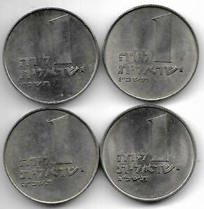 Israel 4 X 1 lira 1963 1965 1966 1967 AUNC coins