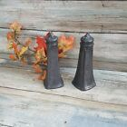 Antique WAL Salt and Pepper shakers, Metal Pewter type salt and pepper shakers
