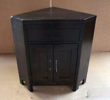 Damaged Solid Oak Small Corner Vanity Bedside Cabinet Cupboard TV Cabinet