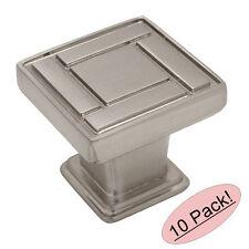 *10 Pack* Cosmas Cabinet Hardware Satin Nickel Square Cabinet Knobs #7155SN