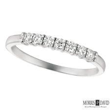 0.25 Carat Natural Diamond 7 Stone Ring Band G SI 14K White Gold