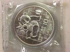 1989 CHINA PANDA 1 oz  999 SILVER 10 YUAN  COIN BU MINT SEALED