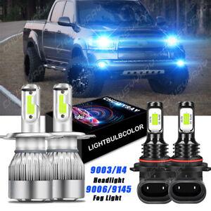 For Toyota Tundra 2000 -2006 LED Combo Headlight High Low Beam + Fog Light Bulbs