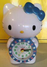 Vintage Lazer Hello Kitty Singing Analog Clock Japan