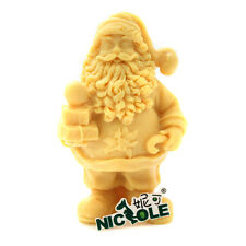 Nicole Christmas Santa Claus Silicone Soap Candle Mould Resin,Clay Crafts Molds