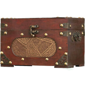 New Vintiquewise Small Treasure Chest/Decorative Box, QI003015