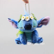 Stitch Plush Keychain Doll Toy Pink Flower Valentine 2018 Disney Store