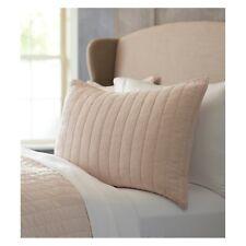Threshold Tan Linen Blend Quilted Pillow Sham King