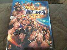 WWE Wrestlemania 33 XXXIII DVD 3 Disc Set Lesnar Undertaker Cena Reigns Rollins