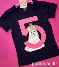 ~NEW~ 5th Birthday PUPPY DOG Baby Girls Shirt 5T SS 5 Years Gift! Carters Party