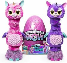 "Hatchimals Wow, Llalacorn 32"" Tall Interactive Hatchimal with Re-Hatchable Egg"