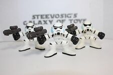 STAR WARS Galactic Heroes Imperial Stormtrooper lot of 3 Army Builder Blue Mask