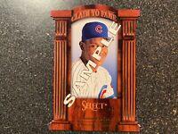 Sammy Sosa Cubs 1996 Score Select Claim to Fame PROMO SAMPLE CARD #8
