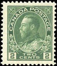 Mint NH 1923 Canada F+ Scott #107e 2c King George V Admiral Stamp