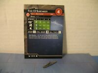 Axis & Allies War at Sea Base Set Type13 Subchaser 62/64