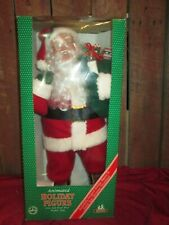 """Holiday Creations Santa Animated Figure Lighted Motion in box w adapter 26"""""""