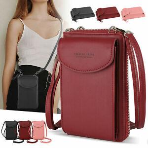 Women Mobile Phone Bag PU Leather Crossbody Mini Purse Wallet Shoulder Pouch NEW