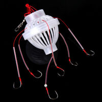 2x Hot Sale 6 In 1 Lantern Lure Bait Cage Barb Fishing Accessories Hook new