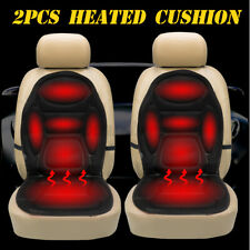 2x Universal 12V Electric Heated Car Front Seat Cover Padded Thermal Cushion US