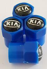 KIA blue valve DUST CAPS PLASTIC NON STICK All cars 7 colours soul RIO Optima