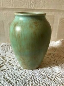Burleigh Ware Art Deco  Vase 1930s Mottled Glaze England Burgess & Leigh