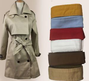 Women Men Trench Coat Belt Soft Obi Belt Style Sash Tie Belts Wraparounds Waist