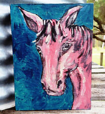 Original artwork painting - Acrylic on Canvas 35cm x 40cm The Ole Grey Mare