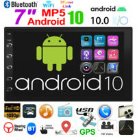 2 Din 7'' Android 10.0 Car Stereo MP5 Player GPS WiFi AUX USB FM Radio Head Unit