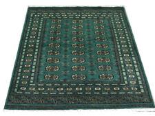 Bokhara Rug Green Original Fine Quality Hand Knotted Oriental Wool Rug 124x194cm