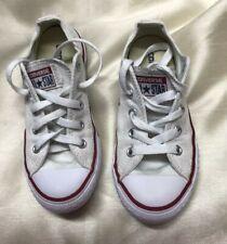 Kids White Converse Shoes Sz 12UK Child 30EU