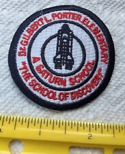 NASA PATCH Space Shuttle Logo Portier Ele. Discovery Saturn School Miami FL #3O