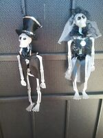 Bride And Groom Skeletons☠ Great Halloween Decoration💀☠