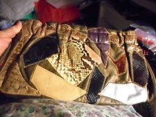 Original bag/purse by Caprice patwork, genuine snakeskin assorted colors