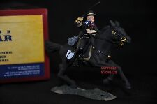 BRITAINS 31017 GENERAL CUSTOR UNION CAVALRY BRIGADIER MOUNTED TOY SOLDIER FIGURE