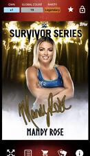 Topps WWE Slam Digital Survivor Series Mandy Rose Gold Signature Legendary