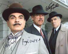David Suchet, Roger Lloyd Pack & Elliott Gould Signed Photo - Poirot - A752