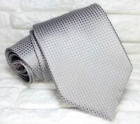 Cravatta di lusso Classica grigia Made in Italy SETA business matrimoni  RP€ 38