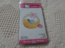 Sizzix Hello Kitty Med Die Retired 655994 EASTER BASKET EGGS BOW by Sanrio NIP