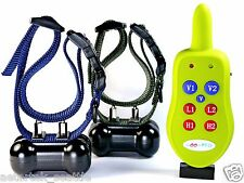 RECHARGEABLE 800 FEET REMOTE TRAINER 2 DOG TRAINER VIBRATION SHOCK BARK COLLAR