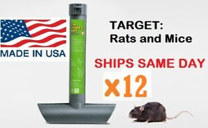 12 x RAT MOUSE MICE RODENT SELF FEEDING TOP LOAD TUBE BAIT STATION Lockable Trap